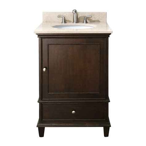 Vanity 24 Inch 24 inch single sink bathroom vanity with choice of top