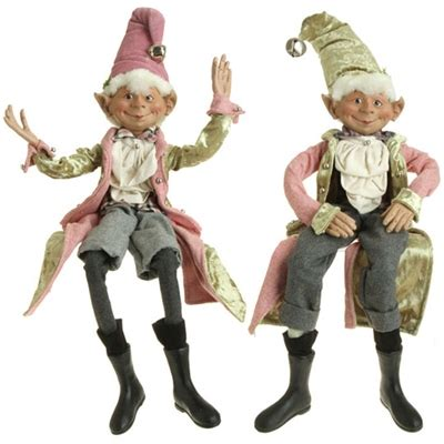 raz imports  french candy collection posable elf set