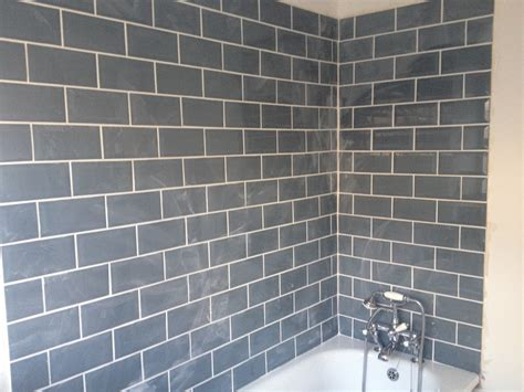 Grey Tiles With Grey Grout by West Egg Metro Tiles For The Bathroom