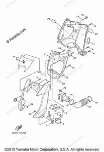 Yamaha Scooter 2014 Oem Parts Diagram For Leg Shield