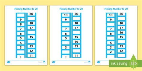 Esl Counting 1 20 Worksheets