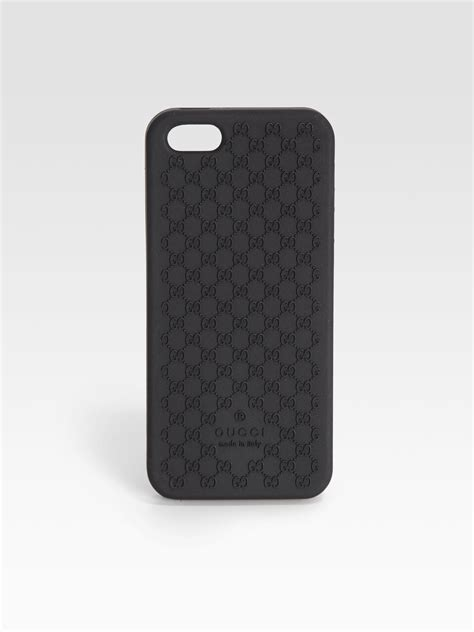 gucci iphone gucci gg bio plastic cover for iphone 5 in black lyst