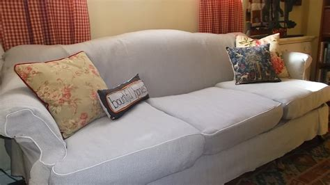 Camel Back Sofa Cover by Living A Cottage Camel Back Sofa Slipcover Part 2