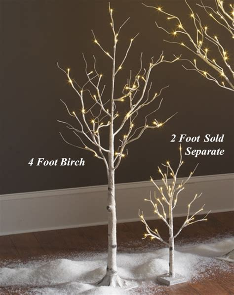 white battery christmas lights lighted white birch tree 4 foot 48 warm white led 39 s