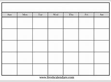 15+ Blank Calendar Printable Templates 2019 Free Monthly