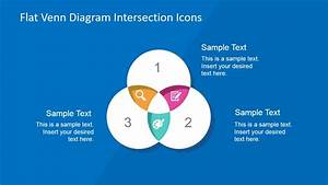 Flat Venn Diagram Intersection Icons