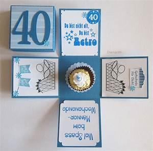 Ideen Zum 40 Geburtstag Mann : geburtstagsset zum 40 geburtstag eine explosionsbox f r einen gutschein und eine erste hilfe ~ Avissmed.com Haus und Dekorationen