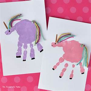 Handprint Unicorn Craft - The Resourceful Mama
