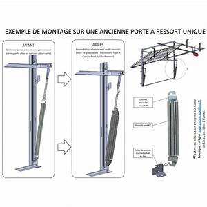 Crochet accroche pour ressorts de porte basculante for Accessoire porte de garage basculante