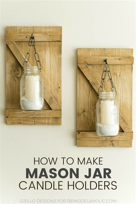how to make a hanging l how to make hanging mason jar candle holders grillo designs