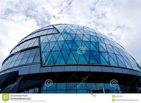 modern building  glass dome stock photo image