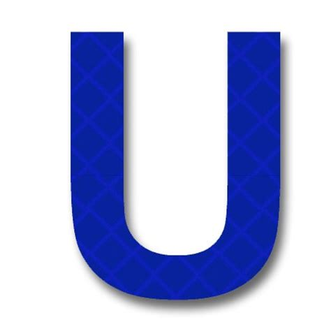 "Afterglow  Retroreflective 2 Inch Letter ""u"" Blue"