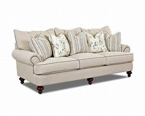 traditional upholstered sofa with t shaped down cushions With sectional sofa down cushions