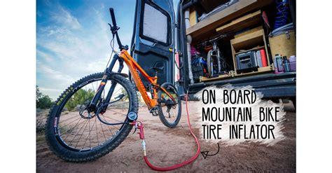 On Board Mountain Bike Tire Inflator