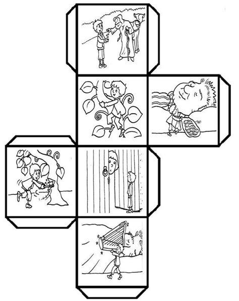 Story Cube Template by Students Color Cut Fold And Paste To Make A Story