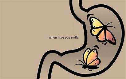 Stomach Butterflies Text Smiling Typography Smile Wallpaperup