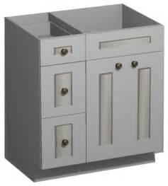 30 inch white shaker vanity combo base drawers left us