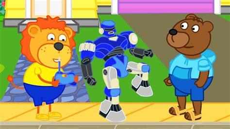 Lion Family Robot Winner Cartoon For Kids