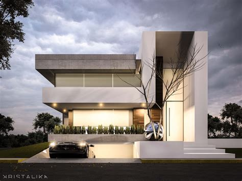 House Architectural by Bosque Alto House Architecture Modern Facade