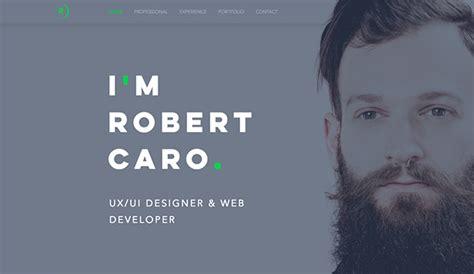 portfolio cv website templates wix