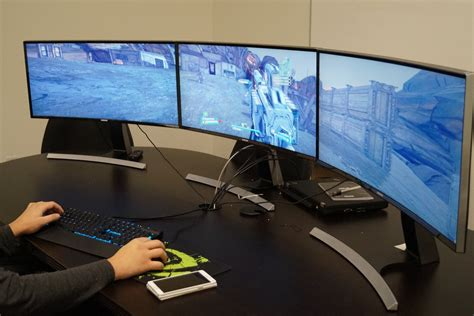 Dual 27 Monitor Stand by Pc Gaming On Samsung S Curved Monitors Gamecrate