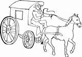 Coloring Horse Pages Stagecoach Cowboy Colouring Western Cab Printable Chariot Colour Philip Drawing Horses Sketch Clipart sketch template