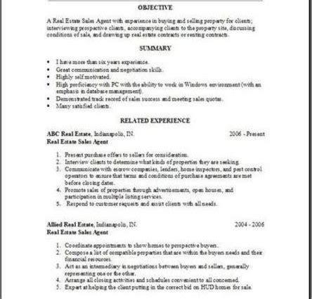 doe resume real estate resume objective real estate resume doe writing resume sle writing