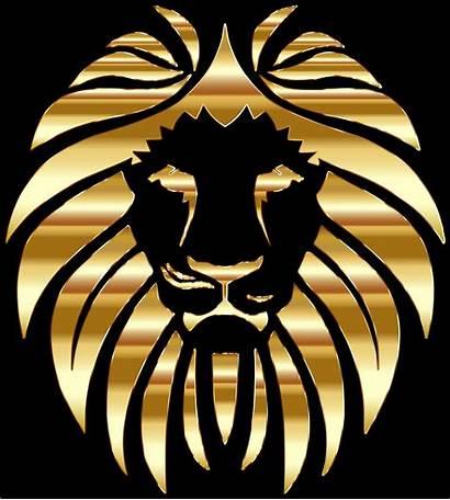 Lion Golden Clipart Gold Logos Clipground Svg