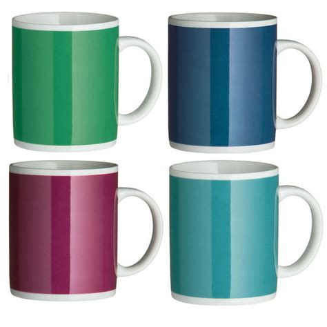 mug colourful set of 6 colourful 11oz mugs large porcelain kitchen tea