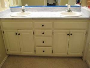 Pinterest o the worlds catalog of ideas for Painting laminate bathroom vanity
