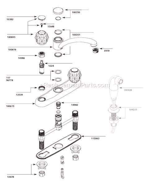 Moen 7900 Parts List and Diagram   (After 5 11