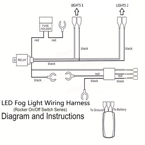 Led Fog Light Wiring Harness Laser Rocker Switch