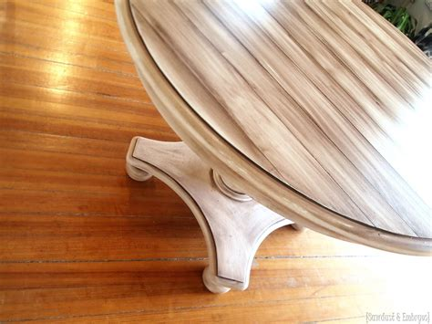 how to paint wood faux planked table transformation reality daydream
