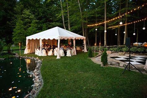 rustic backyard wedding ideas  fall undercover