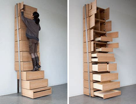 Spacesaving Staircase Shelves For Floortoceiling Storage