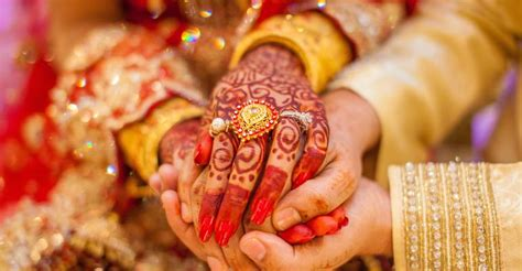 The most common wedding hands material is metal. Indian Weddings Grow Ever More Lavish | Special Events