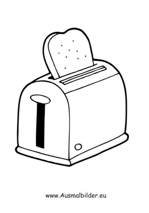 ausmalbilder toaster haushaltsgeraete malvorlagen