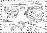 Farm Coloring Pages Hay Windmill Activities Crafts Diy Field sketch template