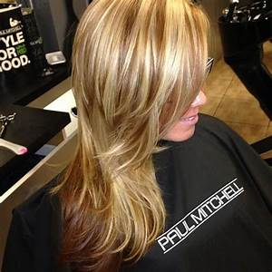 caramel blonde highlights and milk chocolate low lights ...