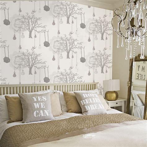 d馗oration papier peint chambre adulte décoration de chambre 55 idées de couleur murale et tissus