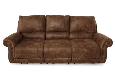 ashley power reclining sofa ashley oberson reclining power sofa mathis brothers
