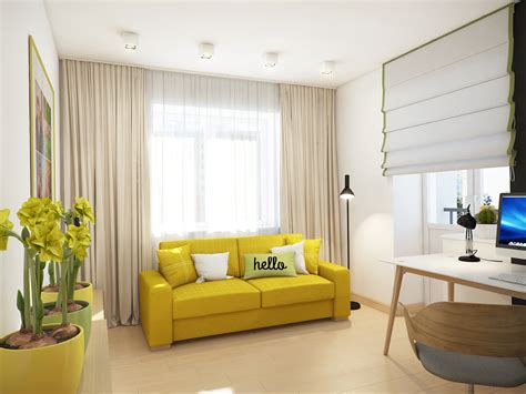 cozy apartment  kyiv  soft citrus accents