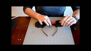 How To Make Mickey Mouse Ears Or Minnie Mouse Ears On