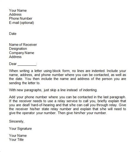 formal business letter format official letter sle