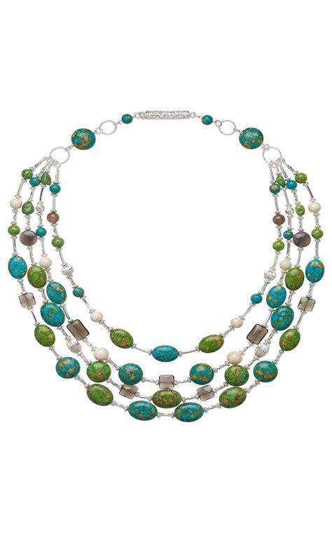 jewelry design multi strand necklace  mosaic
