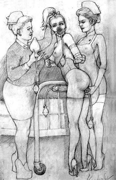 Erotic Enema Drawings 27 Pics