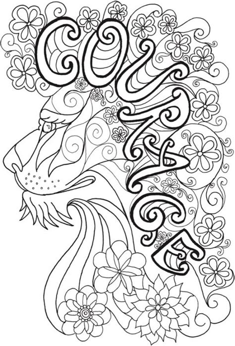 inspirational lion coloring page stamping
