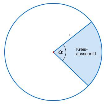 kreisausschnitt kreissektor mathematrix