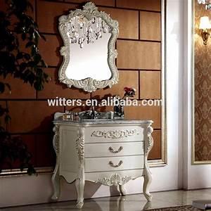 shabby chic feuille d39or salle de bains meubles style With meuble salle de bain shabby chic