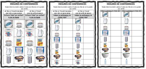 plan de travaille pour cuisine maths ateliers de mesure de contenances ma maitresse